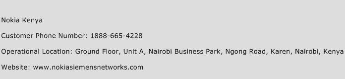 Nokia Kenya Phone Number Customer Service