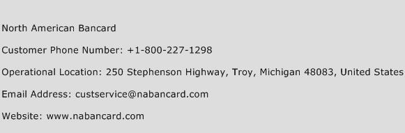 North American Bancard Phone Number Customer Service