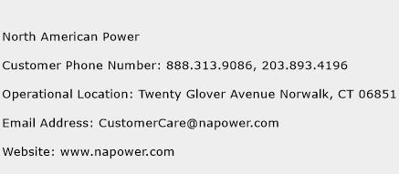 North American Power Phone Number Customer Service
