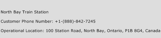 North Bay Train Station Phone Number Customer Service