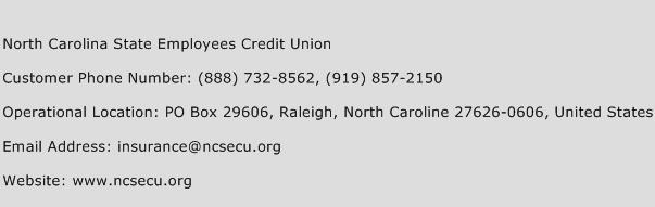 North Carolina State Employees Credit Union Phone Number Customer Service