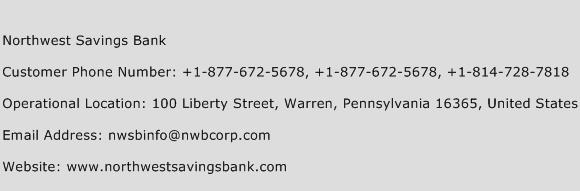 Northwest Savings Bank Phone Number Customer Service