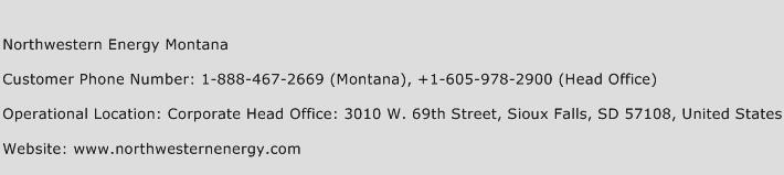 Northwestern Energy Montana Phone Number Customer Service