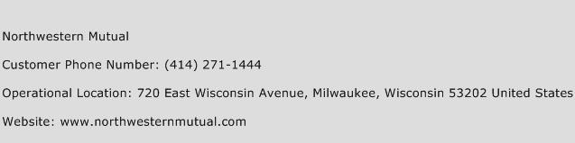 Northwestern Mutual Phone Number Customer Service