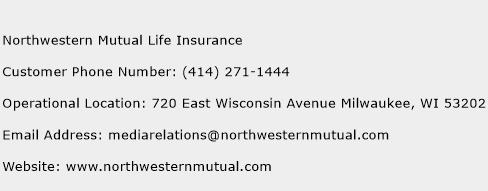 Northwestern Mutual Life Insurance Phone Number Customer Service