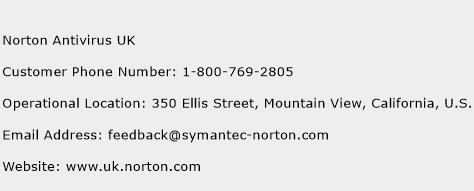 Norton Antivirus UK Phone Number Customer Service
