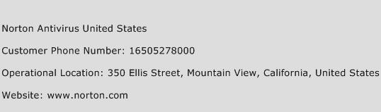 Norton Antivirus United States Phone Number Customer Service