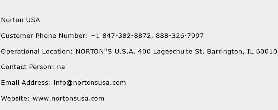 Norton USA Phone Number Customer Service
