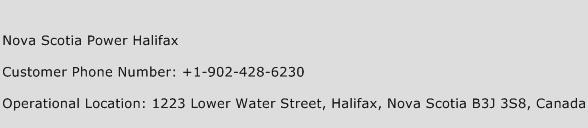 Nova Scotia Power Halifax Phone Number Customer Service