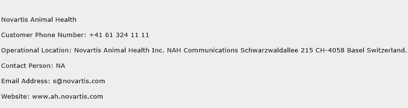 Novartis Animal Health Phone Number Customer Service