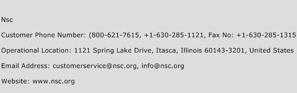 Nsc Phone Number Customer Service