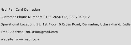 Nsdl Pan Card Dehradun Phone Number Customer Service
