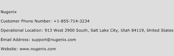 Nugenix Phone Number Customer Service