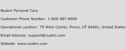 Nuskin Personal Care Phone Number Customer Service