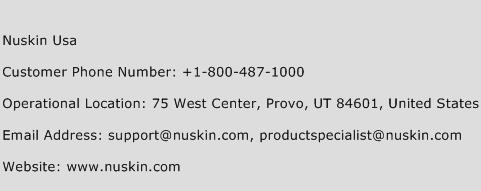 Nuskin USA Phone Number Customer Service