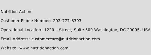 Nutrition Action Phone Number Customer Service