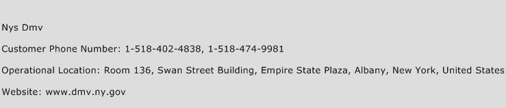 Nys Dmv Phone Number Customer Service