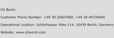 O2 Berlin Phone Number Customer Service