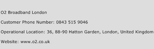 O2 Broadband London Phone Number Customer Service