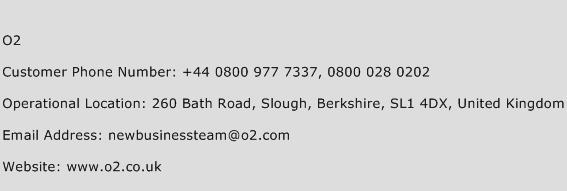 O2 Phone Number Customer Service