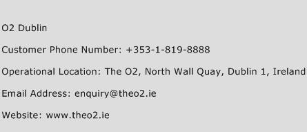 O2 Dublin Phone Number Customer Service