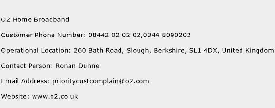 O2 Home Broadband Phone Number Customer Service