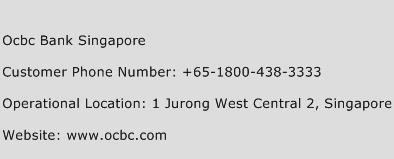 OCBC Bank Singapore Phone Number Customer Service