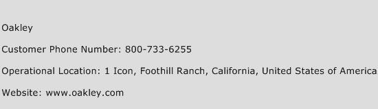 oakley customer service number