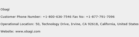 Obagi Phone Number Customer Service