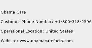 Obama Care Phone Number Customer Service