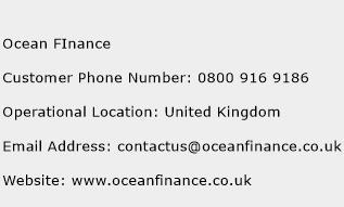 Ocean Finance Phone Number Customer Service