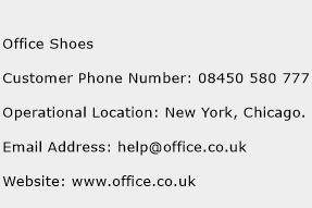 Office Shoes Phone Number Customer Service