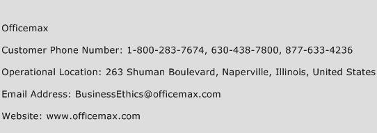 Officemax Phone Number Customer Service
