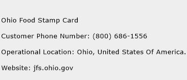 Ohio Food Stamp Card Phone Number Customer Service