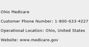 Ohio Medicare Phone Number Customer Service