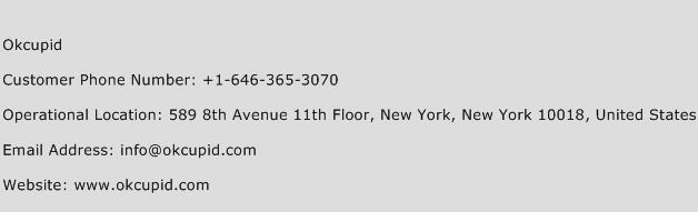 Okcupid Phone Number Customer Service