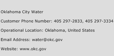 Oklahoma City Water Phone Number Customer Service