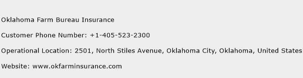 Oklahoma Farm Bureau Insurance Phone Number Customer Service