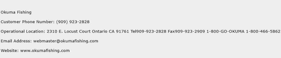 Okuma Fishing Phone Number Customer Service