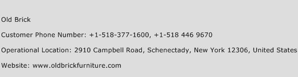 Old Brick Phone Number Customer Service