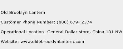 Old Brooklyn Lantern Phone Number Customer Service
