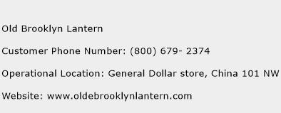 Old Brooklyn Lantern Phone Number Customer Service