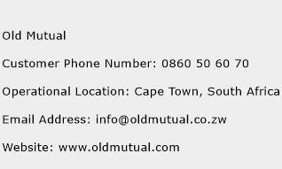 Old Mutual Phone Number Customer Service