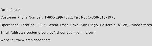 Omni Cheer Phone Number Customer Service