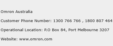 Omron Australia Phone Number Customer Service