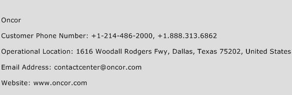Oncor Customer Service Number | Contact Number | Toll Free Phone ...