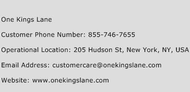 One Kings Lane Phone Number Customer Service