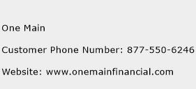 One Main Phone Number Customer Service