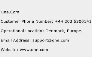 One.Com Phone Number Customer Service