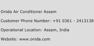 Onida Air Conditioner Assam Phone Number Customer Service